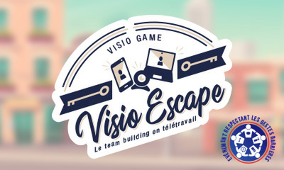Visio Escape Team Building Télétravail label